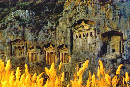 Awe Inspiring Lycian Rock Tombs at Dalyan, in the Southwest of Turkey